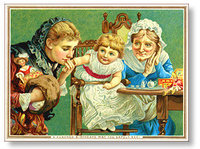 De La Rue & Co birthday Victorian Greeting Card