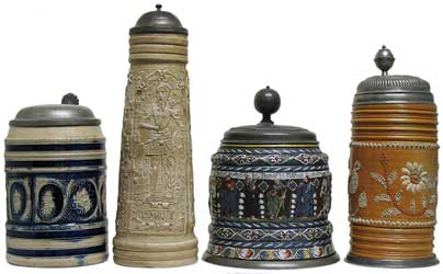 Beer Steins, From Stoneware to Faience