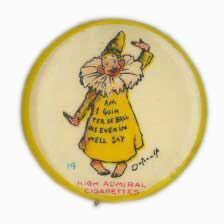 Yellow Kid Admiral Cigarettes. Am I Goin Ter De Ball Dis Evenin Well Say. By W&H and Riley Klotz ca. 1890s