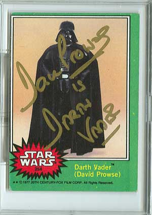 David Prowse as Darth Vader autographed card