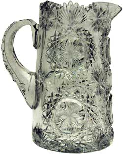 "This is a pitcher by T.G.Hawkes & Company pattern ""North Star"" aka ""Orpheus"""