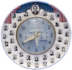 Example of Pop Photographica: Presidential clock from the mid-1960s