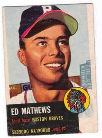Ed Mathews card