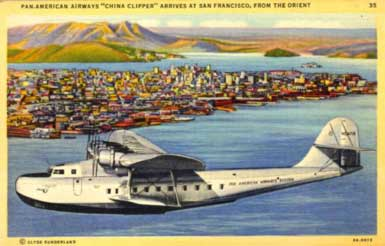 Pan Am Martin M-130 China Clipper postcard