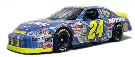 "Jeff Gordon's 2005 ""STAR WARS"" Monte Carlo NASCAR. Out of the box Revell NASCAR Monte Carlo kit with my decals, Some modifications for realism to dashboard."