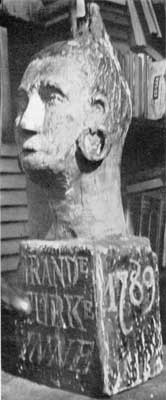 A Carved Tavern Sign: The Grand Turk Inn was at either Mystic or Stonington, Connecticut. It was probably named for Elias Hasket Derby's famous ship, which was one of the first in the China trade.