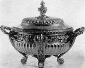 A French Silver Tureen: This was by J. B. Fouache, Paris, 1744, and was bought there by Chancellor Robert R. Livingston.