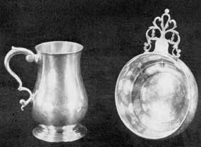 Cann and Porringer by Benjamin Burt