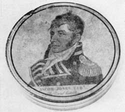 Captain Jacob Jones: The engraving was copied from the print by Edwin done after the portrait by Rembrandt Peale.