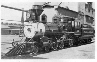 No. 169, of the Denver & Rio Grande: This narrow-gauge locomotive, by an unknown builder, has been carefully preserved by the railroad for which she was built. After the New York World's Fair, she will be on permanent display at Salt Lake City, Utah.