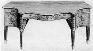 Unsigned plates from Hepplewhite's The Cabinet-Maker and Upholsterer's Guide.