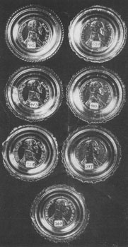 1. In this group of rare cup plates honoring the Mexican War hero, Major Ringgold, there are seven variations.