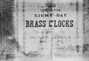 3. Label pasted inside the clock pictured above.