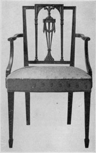 4. N. Y. Sheraton chair from English model.