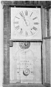 4. Shelf clock bearing the label of Daniel Pratt, Jr., Reading, Massachusetts.