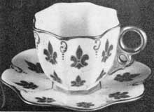 8. Demitasse made about 1889 by the Ceramic Art Co., Trenton, N. J., predecessors of Lenox, Inc., America's first successful fine china manufacturers.