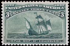 3¢ Flagship of Columbus