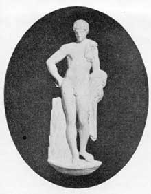 2. Jasper Medallion figure of Adonis, after Lord Lansdozene's Greco-Roman statue of Hermes.