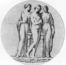 4. D'Harcanville's illustration of the carnelian from which Wedgwood's Three Graces was derived.