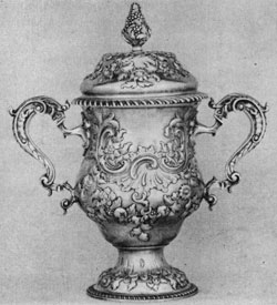 George I loving cup, Samuel Courtauld, ent. 1746, London.
