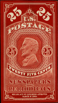 The Newspaper and Periodical Stamps Designs of 1865 - The Newspaper and Periodical stamps of 1865 were designed and printed by the National Bank Note Company.