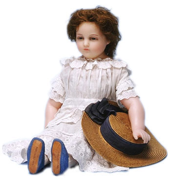 Young Girl Doll made by Henry Pierotti in about 1870