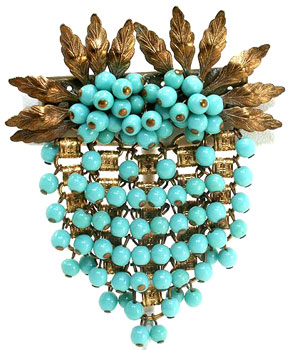 Brooch c. 1940s. Early Frank Hess design.