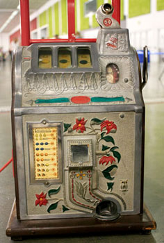 Claire and Josh's early 1900 slot machine.