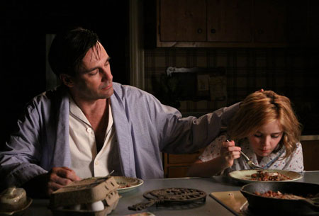 Don Draper (Jon Hamm) and Sally Draper (Kiernan Shipka) in Episode 5.