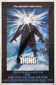 The Thing by Carpenter 1982 U.S. poster design. Image source: www.posteritati.com