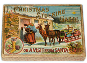 Antique Christmas board game.