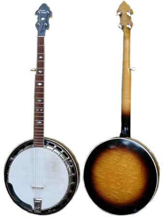 A 1937 Gibson Charles McNeil five-string banjo.