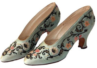 These embroidered shoes by French designer Greco are from 1927.