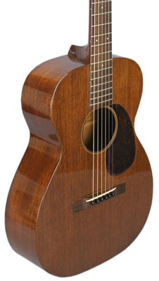 Mahogany delivers a brighter tone than rosewood or spruce. This mahogany Martin 0-17 guitar is from 1937.