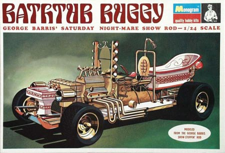 The Bathtub Buggy from 1969 is classic George Barris and is based on his full-scale show rod.