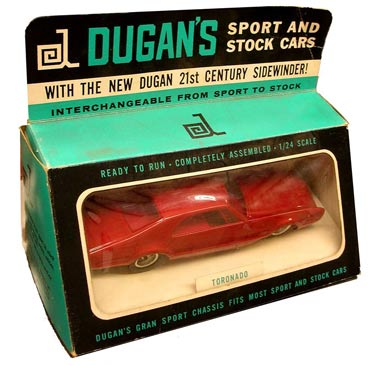 The Dugan Oldsmobile Toronado from 1967 is quite scarce, especially inside its original box.