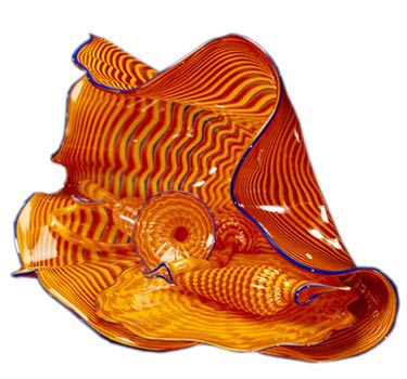 Dale Chihuly is the founder of the Pilchuck Glass School. This piece, a Persian Set from 1989, is courtesy Traver Gallery.