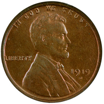 1919-D Louis Eliasberg Lincoln Cent obverse