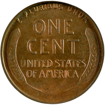 1919-D Louis Eliasberg Lincoln Cent reverse