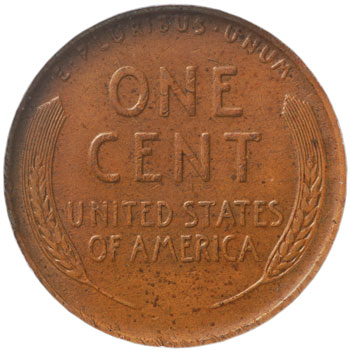 1943-S bronze Lincoln cent reverse