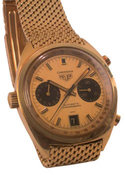 18 karat gold automatic Carrera, circa 1972