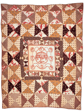 Cotton pieced quilt, maker unknown. United States, 1790-1810. Bequest of Henry Francis du Pont.