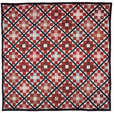 Cotton pieced quilt by Hannah Woolston Coles of Camden County, NJ, circa 1841. Gift of the family of Alice Blackwaln, great-granddaughter of Joseph Heulings and Hannah Woolston Coles.