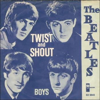 "Rare Danish release of ""Twist And Shout"" from 1964."