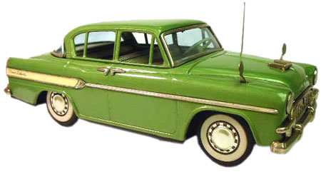 The Toyopet Crown established Bandai as a leading manufacturer of postwar, Japanese tinplate automobile toys.
