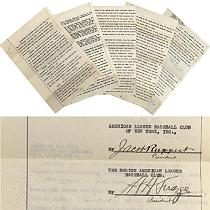 The contract that sold Babe Ruth from the Red Sox to the Yankees sold for $996,000 in 2005.