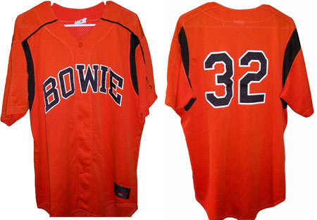 Bloomer owns this alternate Bowie Baysox jersey worn by one of baseball's young stars, Matt Wieters.