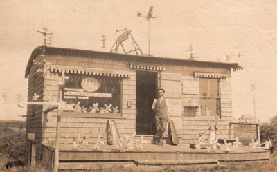 A real photo postcard, circa 1910, of the Shavings Shop in Chatham, Massachusetts, by Charles H. Smallhoff.