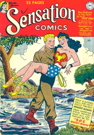 By 1949, the writers of Wonder Woman were turning her into a more traditional female comic-book character.