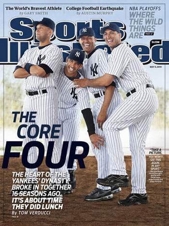 Bloomer happened to begin going to Minor League games right when the Yankees' core four—Derek Jeter, Mariano Rivera, Andy Pettitte, and Jorge Posada—were coming through the minors.